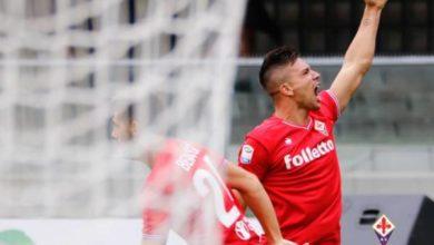 Simeone esulta dopo il suo goal in Verona-Fiorentina: 0-5 del 10 settembre scorso. Credits Fiorentina.