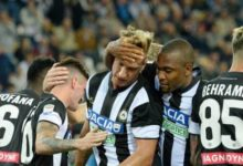 De Paul esulta dopo il goal realizzato in Udinese-Sampdoria del 30 settembre.