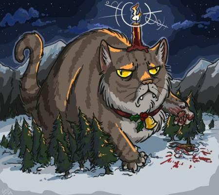 disegno che raffigura il gatto Yule