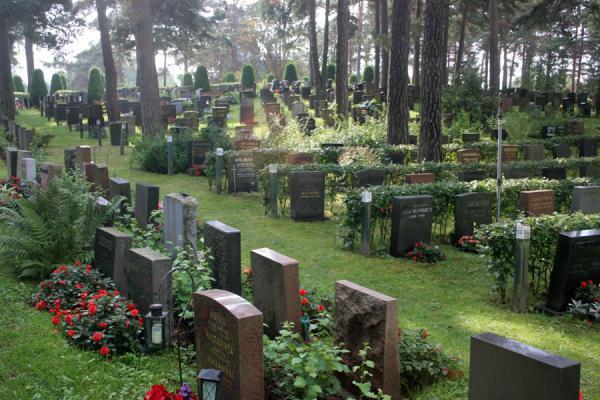 immagine del cimitero Hietaniemi in Finlandia