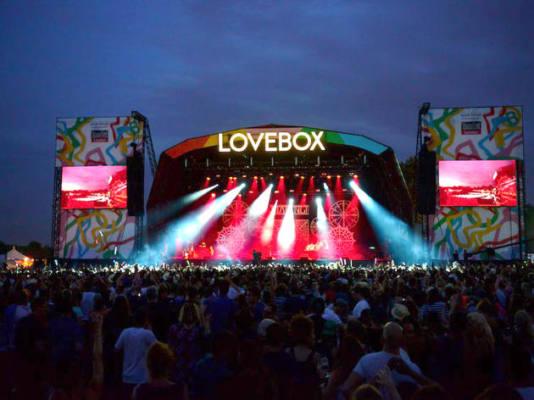 foto scattata al festival Lovebox del 2016