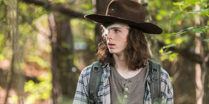 "Chandler Riggs nel ruolo di Carl in ""The Walking Dead"""