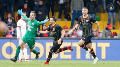 Brignoli esulta dopo il clamoroso goal del pareggio realizzato contro il Milan, il 3 dicembre.