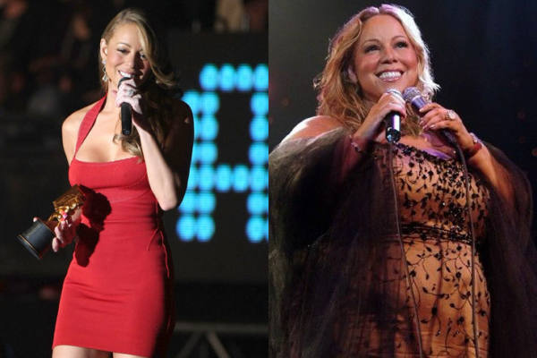 Mariah Carey prima e dopo