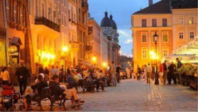Un quartiere di Lviv