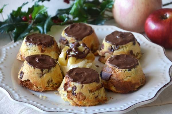 Tortine di panettone e mele
