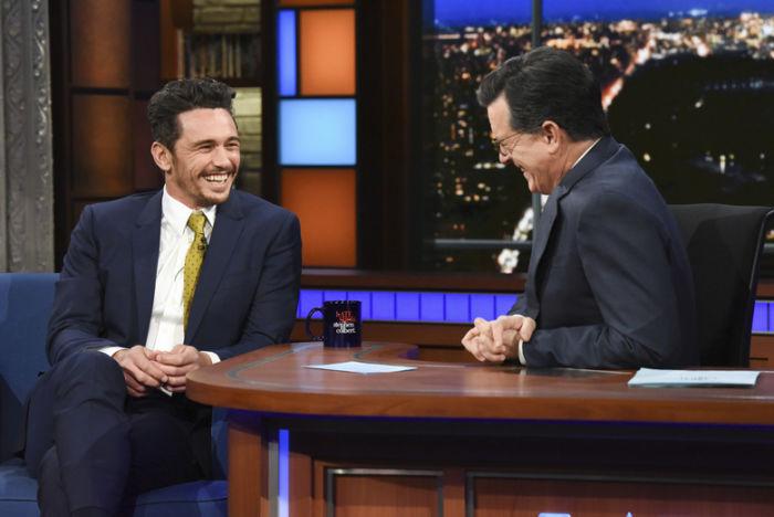 Immagine dell'intervista di James Franco a  The Late Show with Stephen Colbert