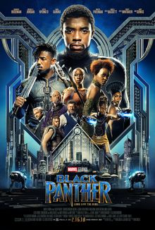 La locandina del film Black Panther