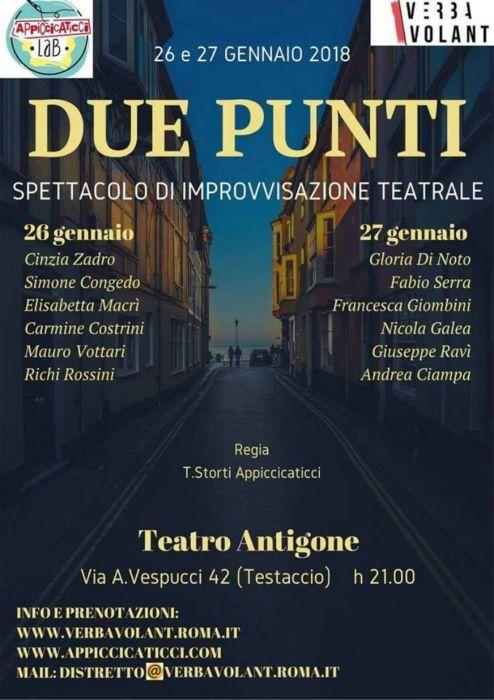 due punti spettacolo teatrale Roma