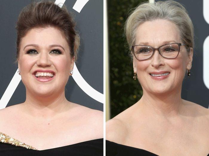 Immagine di Kelly Clarkson e Maryl Streep ai Golden Globes 2018