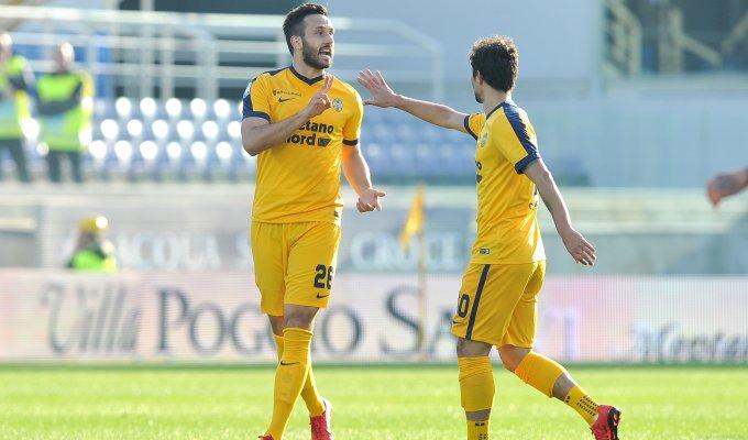 Vukovic festeggia dopo la rete messa segno contro la Fiorentina, il 28 gennaio.