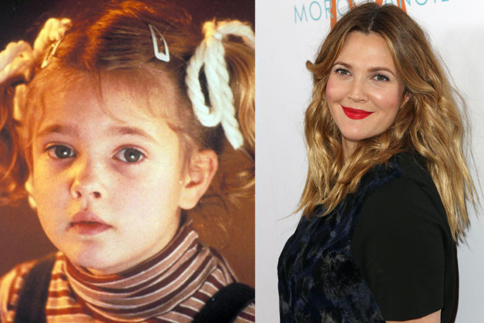 Drew Barrymore ieri e oggi foto 2018