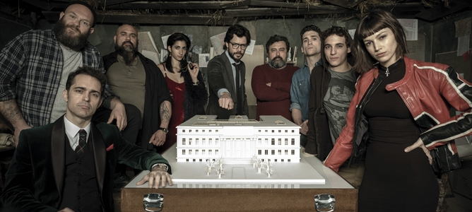 Il cast della La Casa de Papel