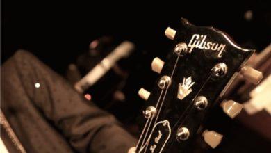 immagine di una chitarra con il logo della Gibson