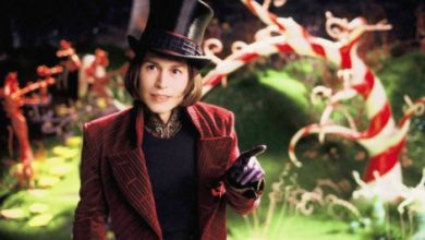 Johnny Depp nei panni di Willy Wonka