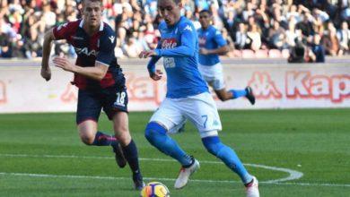 Callejon in azione contro il Bologna, il 28 gennaio.