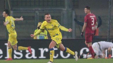 Giaccherini esulta dopo la rete siglata contro il Cagliari, il 17 febbraio.