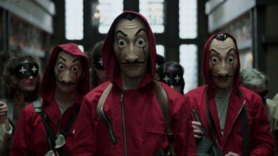 Immagine dei rapinatori mascherati de La Casa de Papel