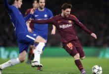 Messi in azione contro il Chelsea, il 20 febbraio.