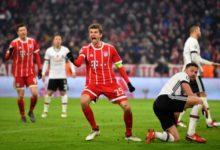 Muller esulta dopo la doppietta siglata al Besiktas, il 20 febbraio.