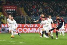 Pandev scocca il tiro del 2-0 a favore del Genoa ai danni dell'Inter, il 17 febbraio.