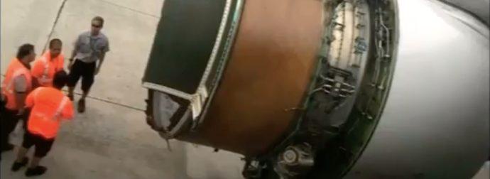 passeggeri atterraggio motore rotto