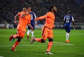 Salah esulta dopo la rete siglata contro il Porto, il 14 febbraio.
