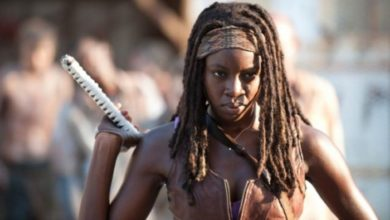 Danai Gurira nei panni di Michonne in The Walking Dead