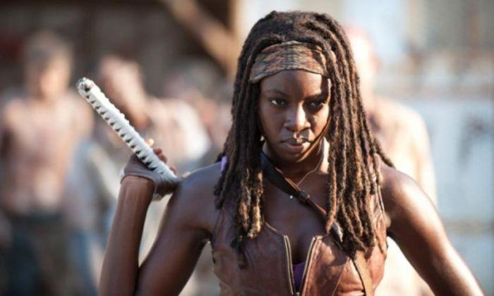 Danai Gurira nei panni di Michonne in The Walking Dead