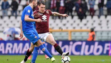 Belotti in azione contro la Fiorentina, match del 18 marzo