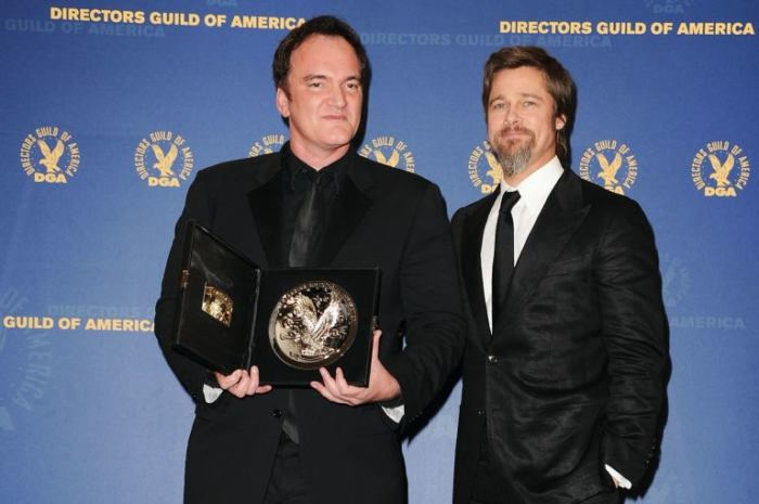 Quentin Tarantino e Brad Pitt