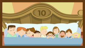canzoni per bambini - 10 in the bed numero