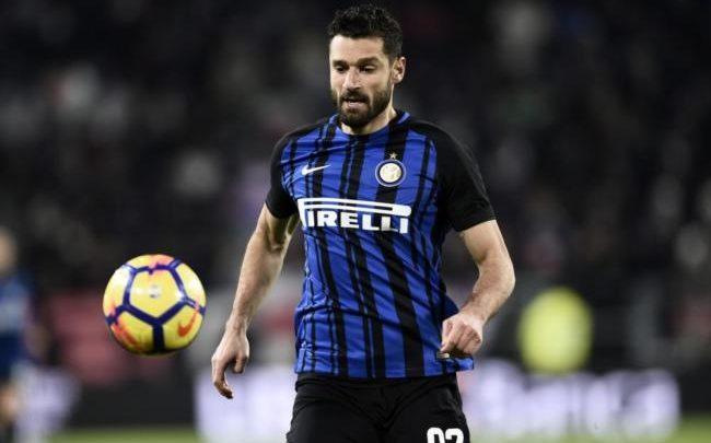 Antonio Candreva in azione con la maglia dell'Inter