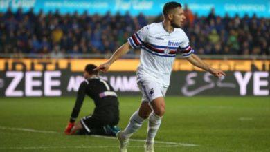 Caprari festeggia il gol realizzato contro l'Atalanta, il 3 aprile.