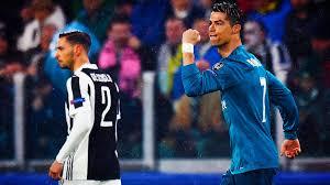 Cristiano Ronaldo dopo un gol realizzato nella sfida d'andata contro la Juventus, il 3 aprile