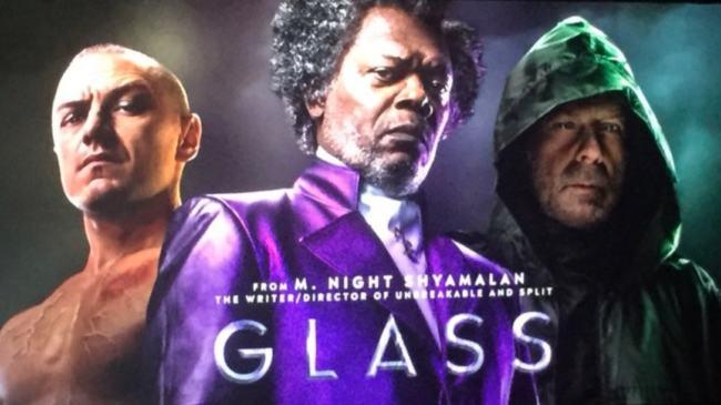 """McAvoy, Jackson e Willis """"Glass"""" foto"""