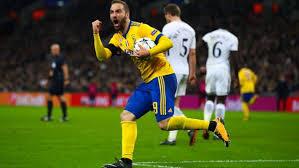 Higuain esulta dopo la rete siglata a Wembley contro il Tottenham.
