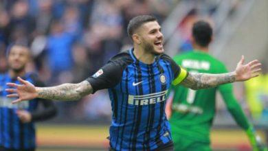 Icardi esulta dopo il gol messo a segno contro l'Hellas Verona, il 31 marzo