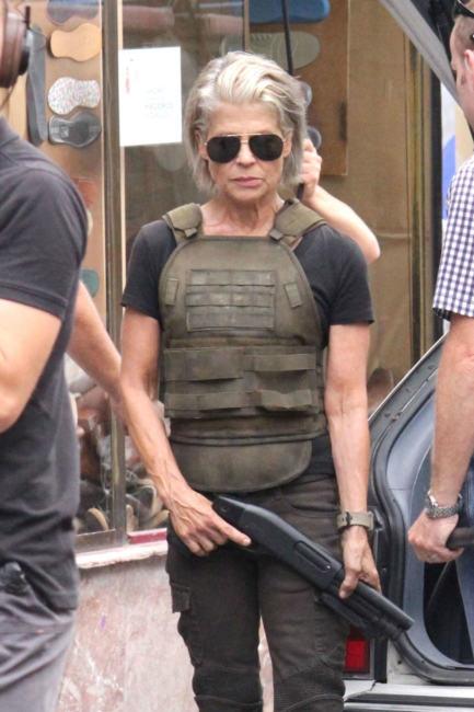 Linda Hamilton in Terminator 6 - foto