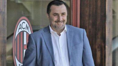 Primo piano dell'attuale direttore sportivo del Milan, Massimiliano Mirabelli.