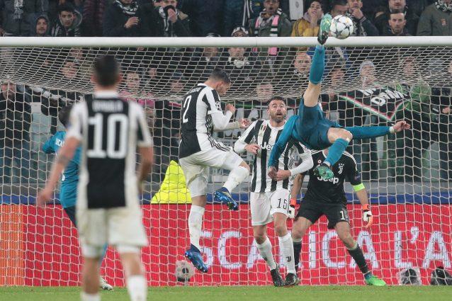 Rovesciata di Cristiano Ronaldo in occasione del momentaneo 0-2 del Real Madrid sulla Juventus, il 3 aprile.