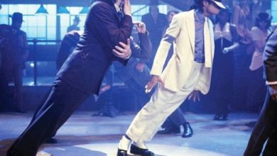 "Michael Jackson ""45° Degree Lean"" foto"