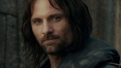 Viggo Mortensen nei panni di Aragorn
