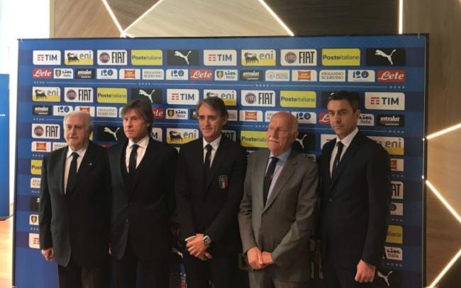 Prima conferenza stampa di Roberto Mancini come allenatore della nazionale