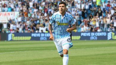 Paloschi esulta dopo la rete realizzata contro il Benevento, il 6 maggio