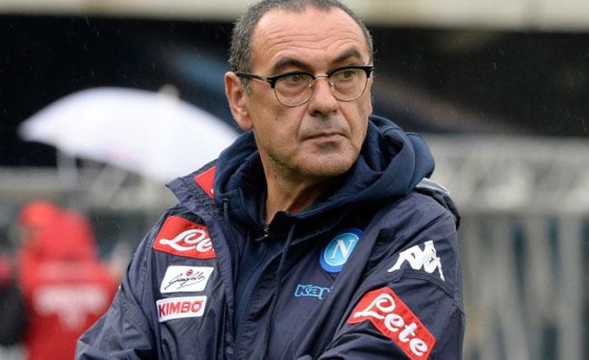 Primo piano di Maurizio Sarri, allenatore del Napoli.