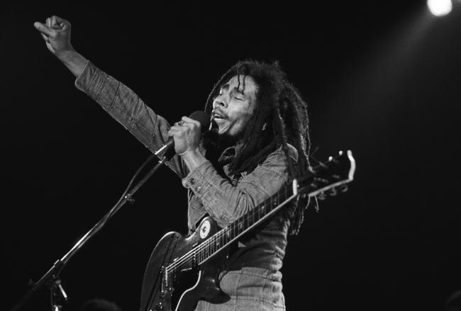bob marley foto del cantante in live