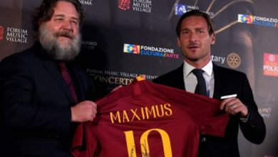 Russell Crowe e Francesco Totti red carpet gladiator