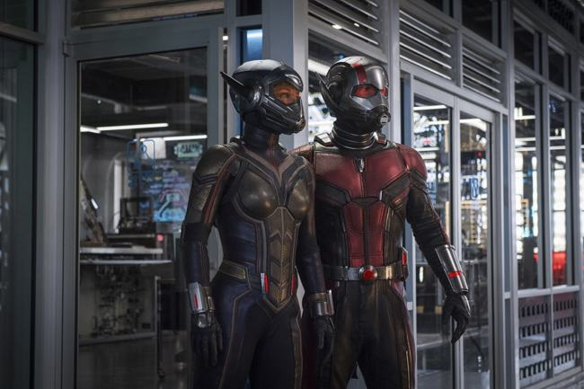 Paul Rudd e Evangeline Lilly in Ant-Man and the Wasp