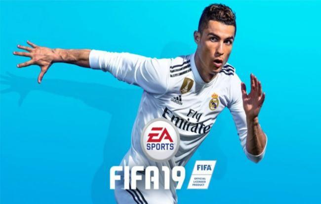 Cristiano Ronaldo nella copertina di Fifa 19